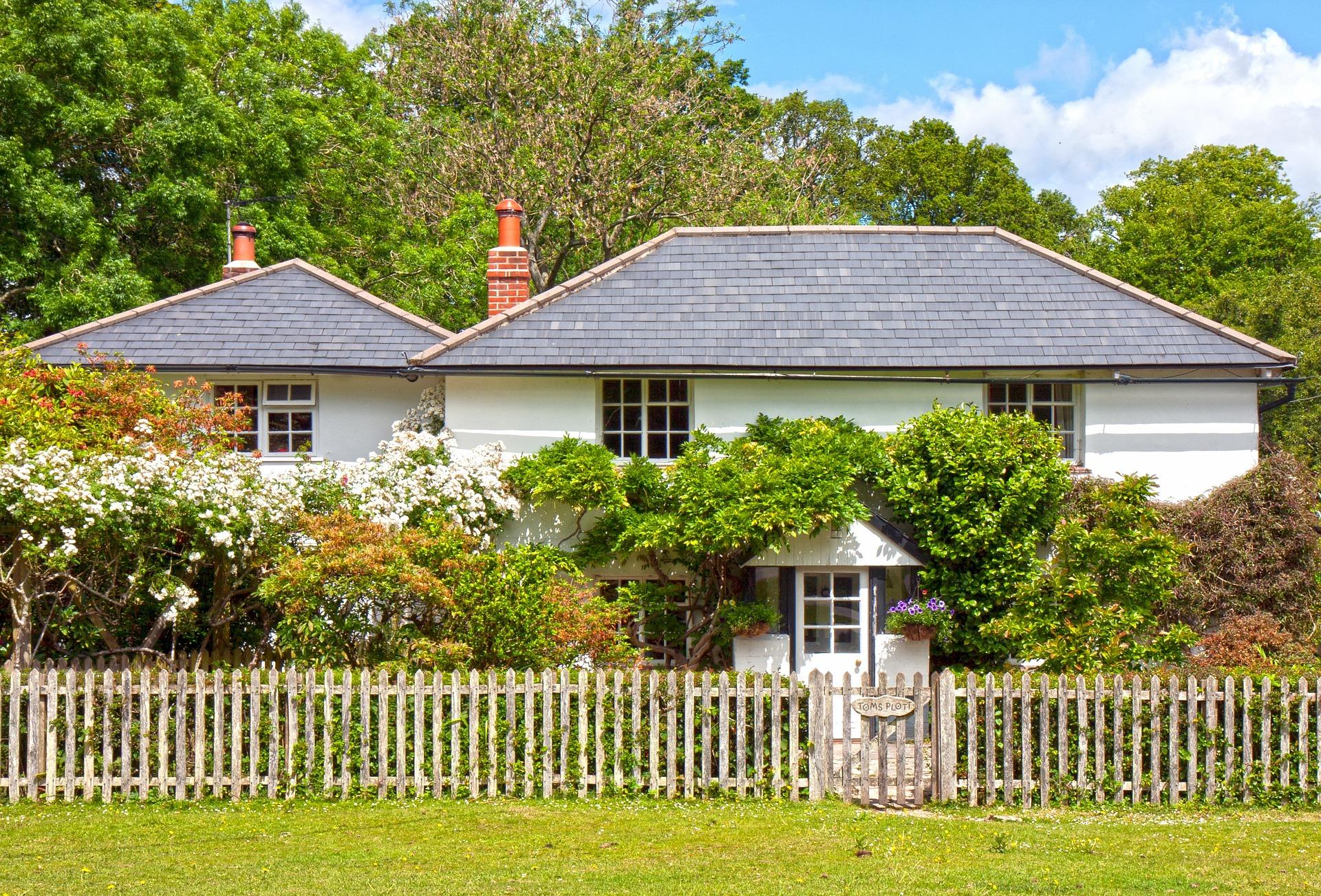 Tradiční domek zahrada
