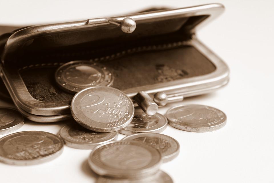 pootevřená peněženka